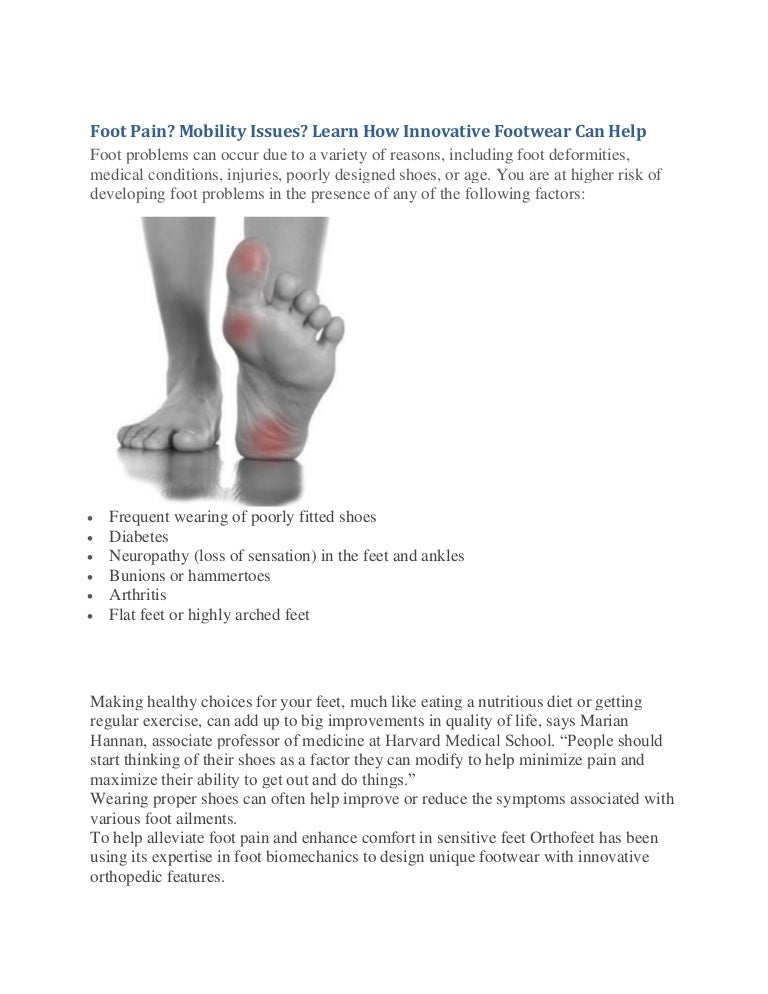 eac577fdcff1 Foot Pain  Mobility Issues  Learn How Innovative Footwear Can Help