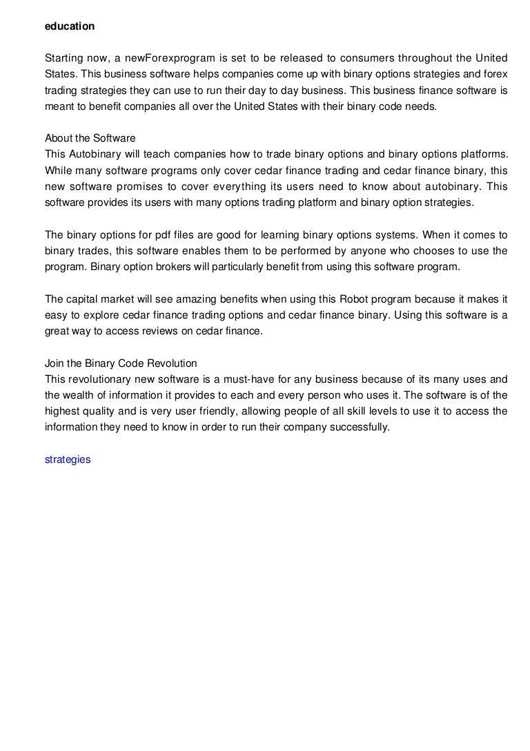 trading binary options pdf files