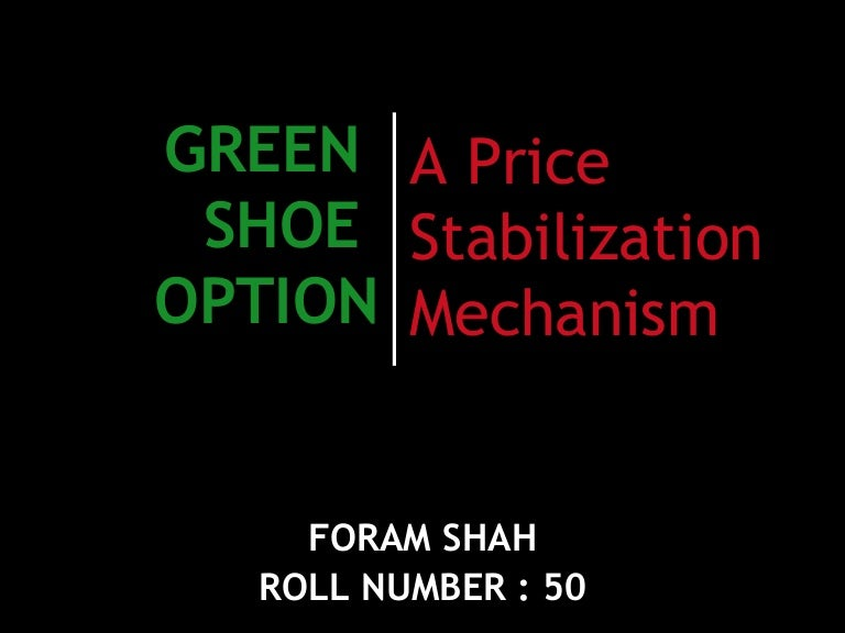 What is an ipo green shoe option.