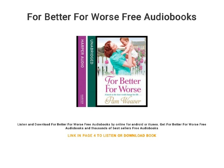 for better or for worse online free