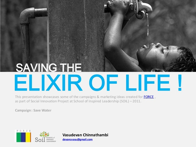 water the elixir of life project