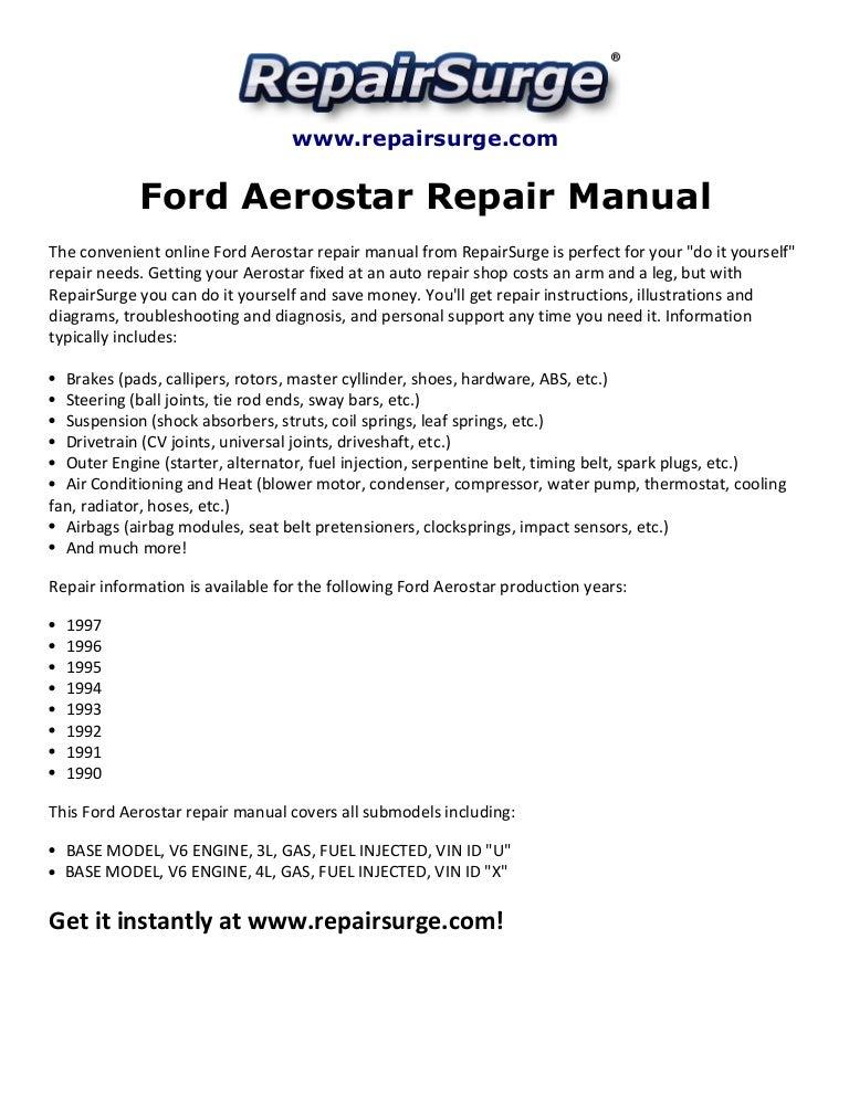 ford aerostar repair manual 1990 1997 Ford Alternator Wiring Diagram 1995 Aerostar Alternator Wiring Diagram 1995 Aerostar Alternator Wiring Diagram #59