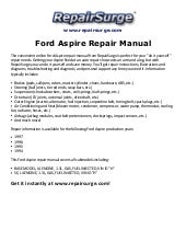 ford aspire 1993 1994 1995 1996 repair manual