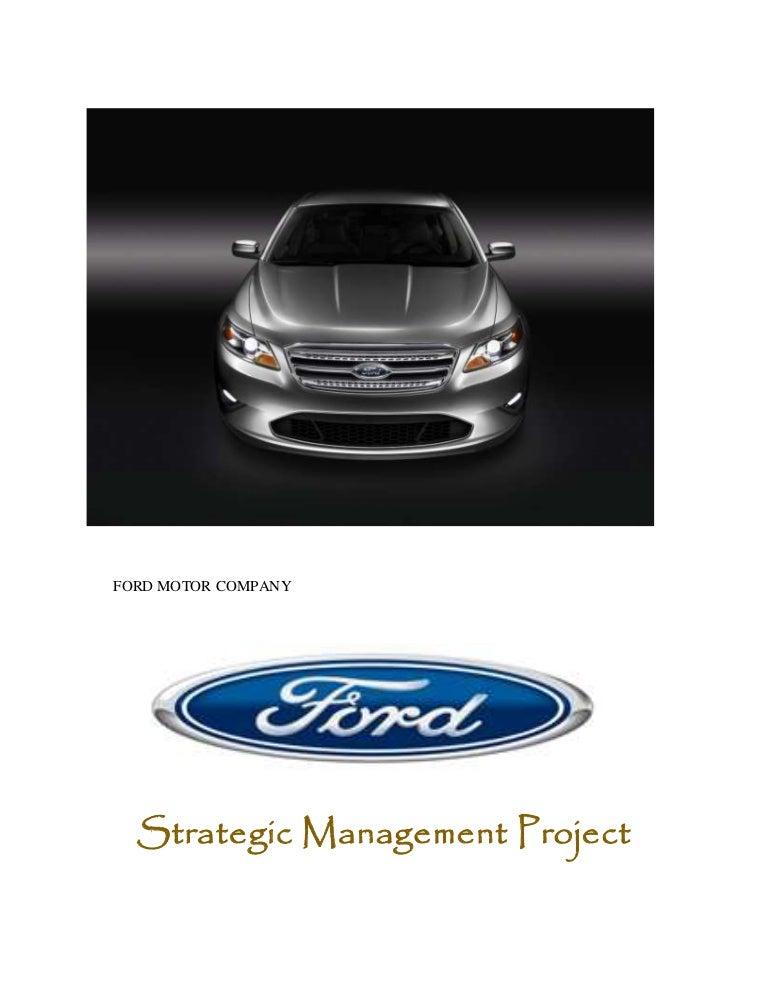 ford motor company swot analysis 2018