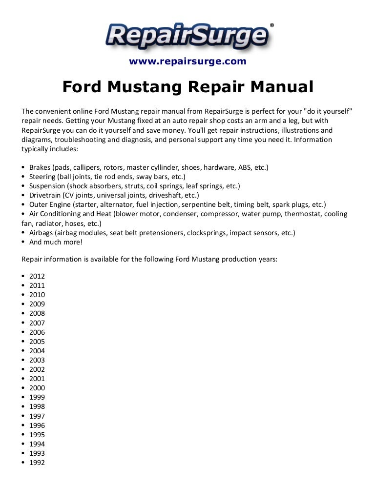 ford mustang repair manual 1990 2012 rh slideshare net honda civic 2015 service manual honda civic 2015 service manual