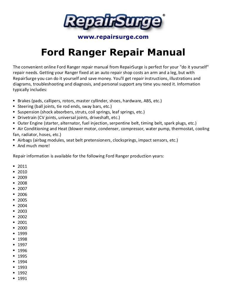 fordrangerrepairmanual1990 2011 141110125850 conversion gate02 thumbnail 4?cb=1415688979 ford ranger repair manual 1990 2011 2012 F-150 Wiring Diagram at eliteediting.co