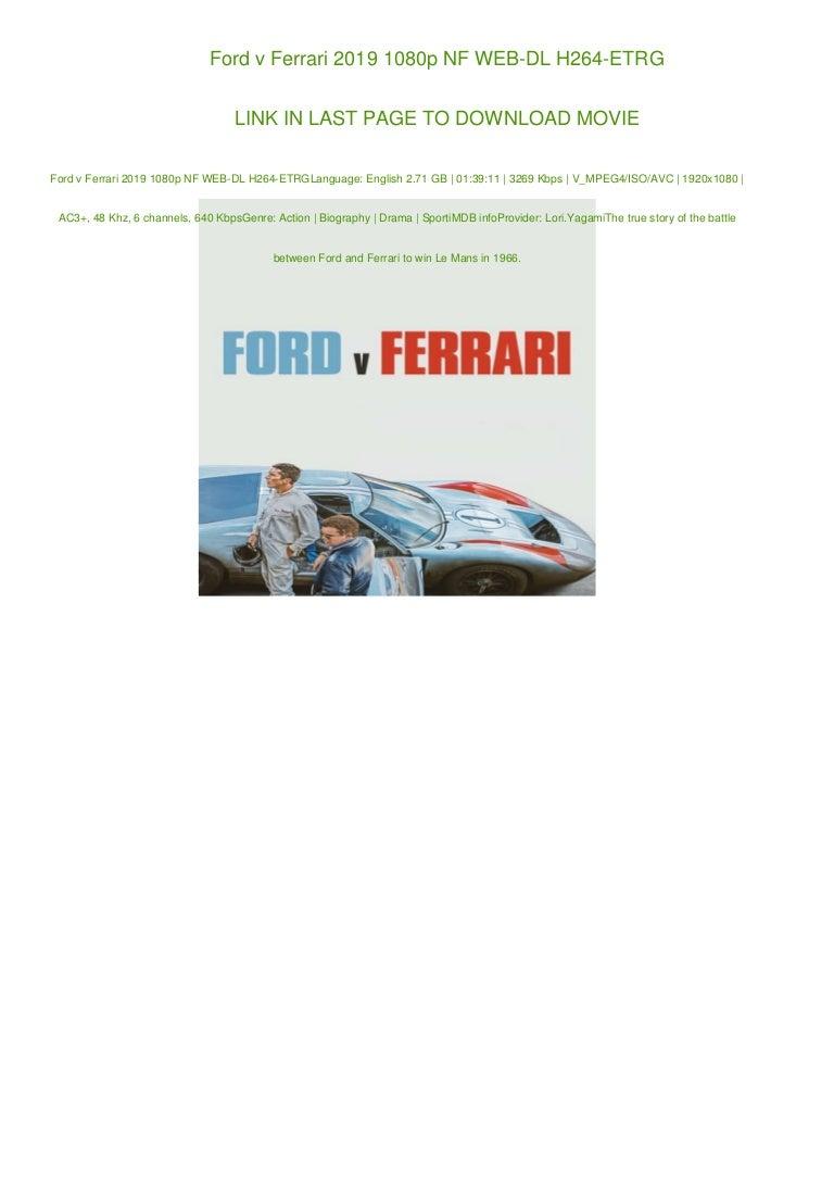 Ford V Ferrari 2019 1080p Nf Web Dl H264 Etrg