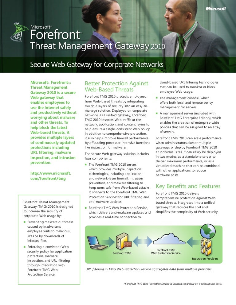Forefront threat management gateway (tmg) 2010 sp2 released.