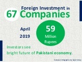 Foreign Investment in Pakistan - April 2019