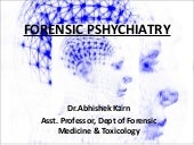 Forensic Psychiatry.