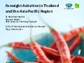 Foresight activities in thailand and apec