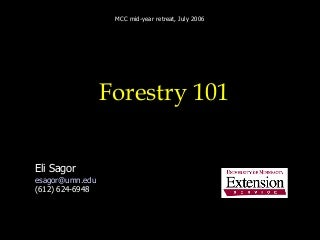 Minnesota Forestry 101