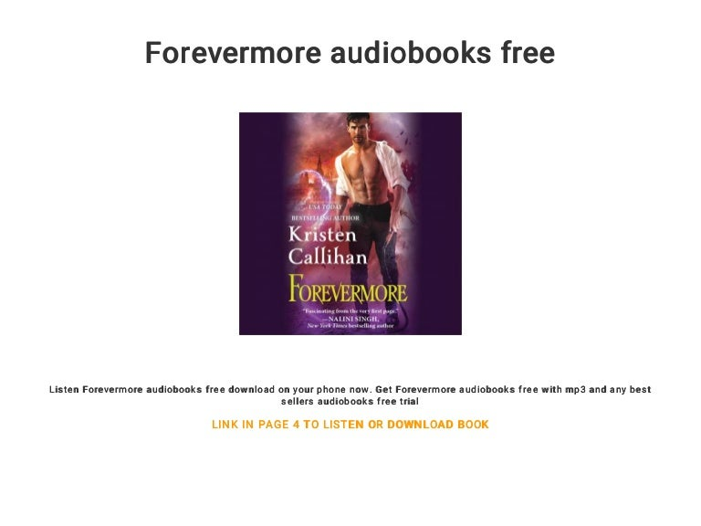 Forevermore free audio books for download.