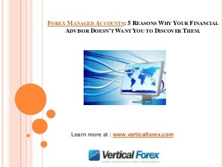 Australian forex managed account quality