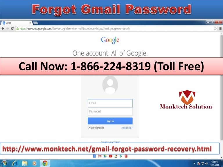 Forgot Gmail Password 1 866 224 8319 Toll Free Configuration Servic