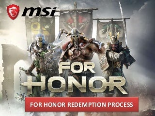 For Honor Game Redemption Instruction