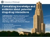 Formalizing knowledge and evidence about potential drug drug interactions, BDM2I at ISWC2015, 2015-10-11