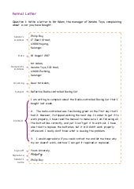 Formal letter format examples exercises spiritdancerdesigns Gallery