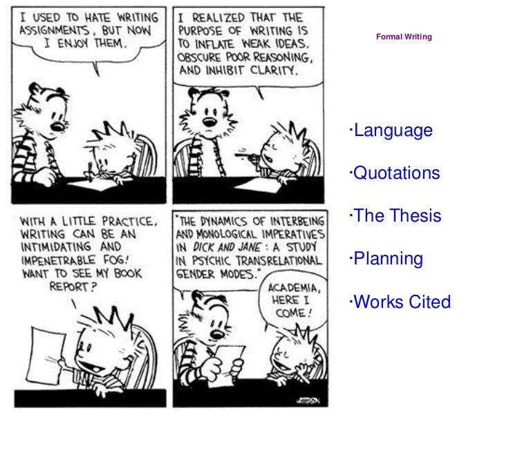 Formal essays