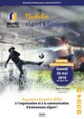 "Ouverture Bachelor ""Esport & Gaming"" à ISEFAC Bordeaux"