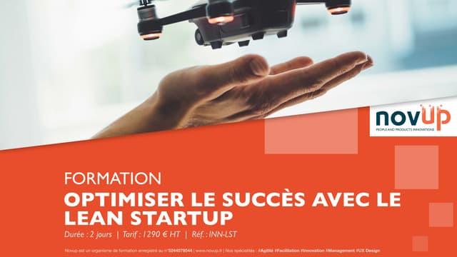 Formation innovation - Optimiser le succès de son projet avec le lean startup
