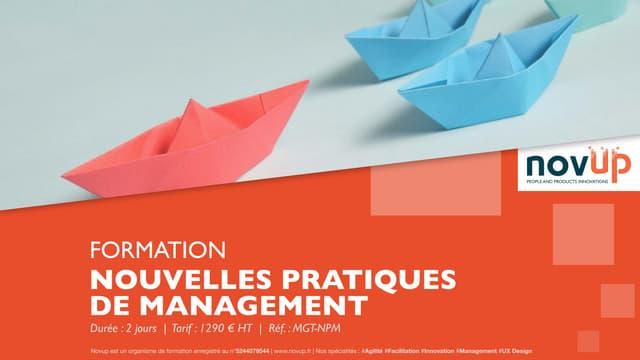 Formation management - Nouvelles pratiques de management