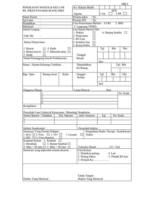 Contoh Format Lembaran Rm