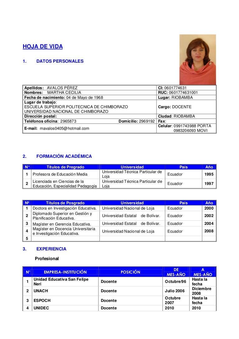 Formato curriculum 2013