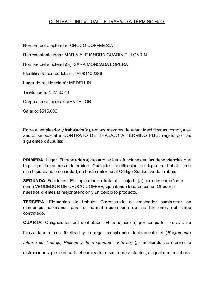 Formato de contrato for Plantilla de contrato indefinido