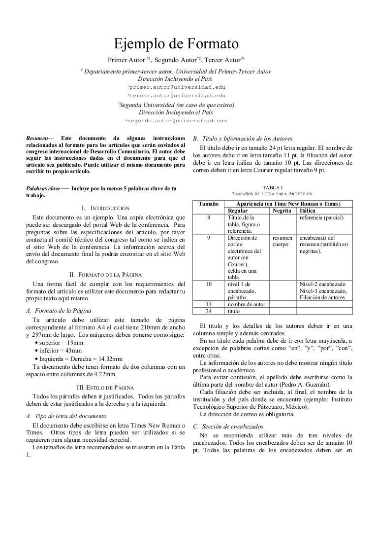 Excelente Ieee Plantilla De Conferencia Bandera - Colección De ...