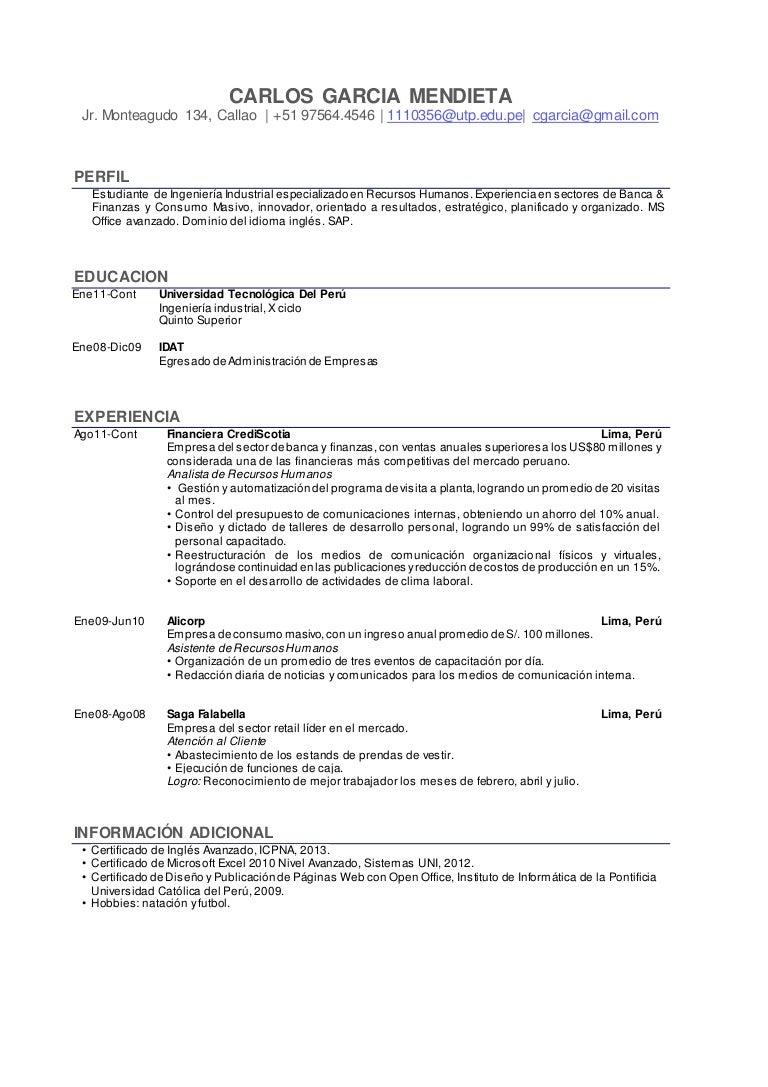 Formato de CV modelo_UTP