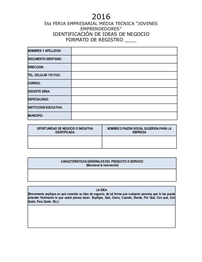 Plan De Negocios Ejemplo Word Unifeed Club