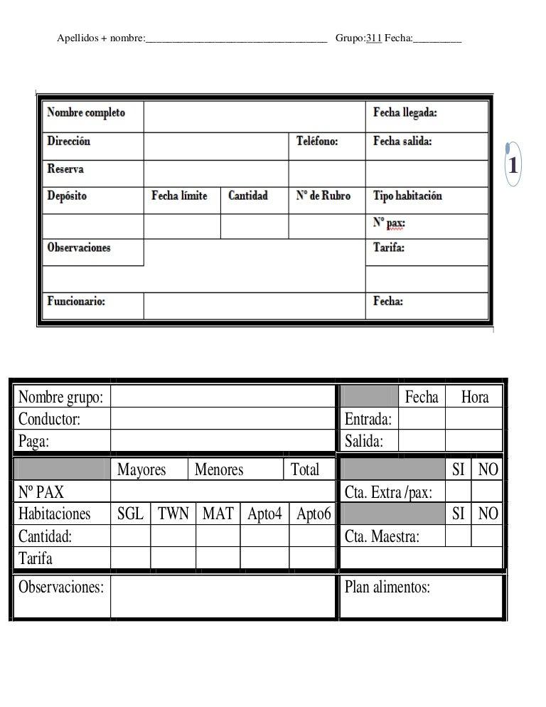 Formatos reservaciones