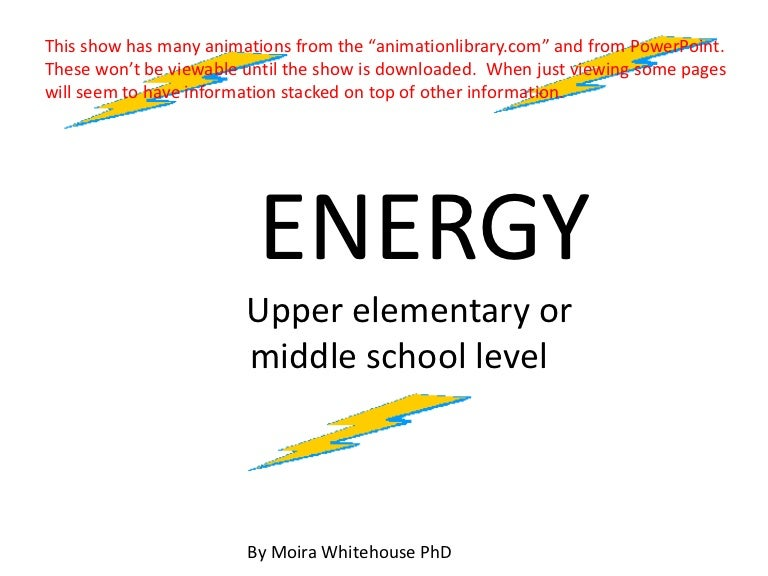 Forms Of Energy Upper Elemmiddle Teach