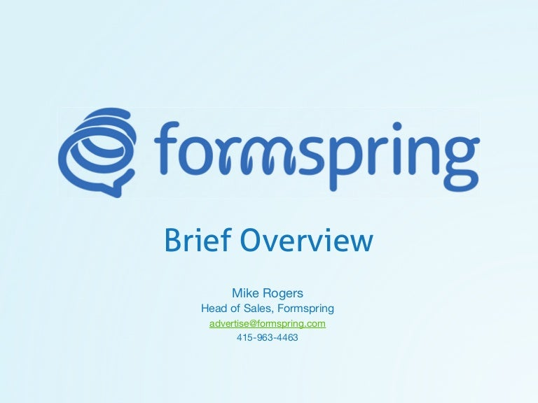 Formspring brief overview.