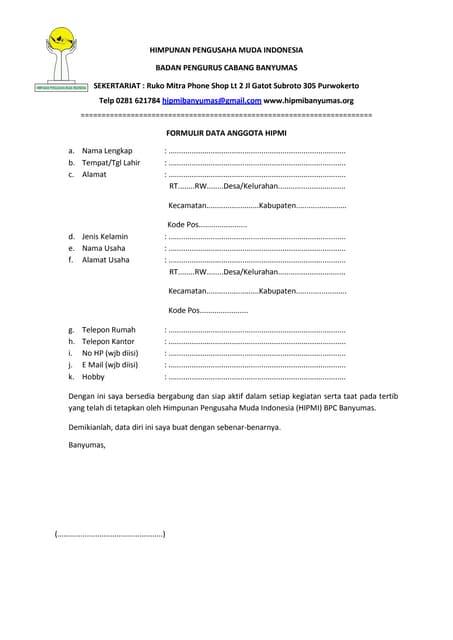 Formulir Pendaftaran Mahasiswa Baru Tahun Akademik 2016 2017