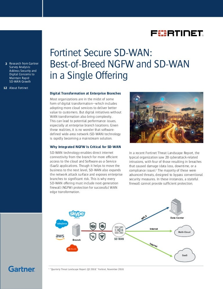 SD-WAN & Fortinet Next Generation Firewall (NGFW) Protection