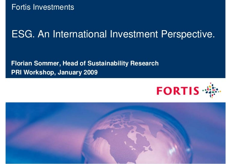 Fortis investments amsterdam 10th asian investment summit