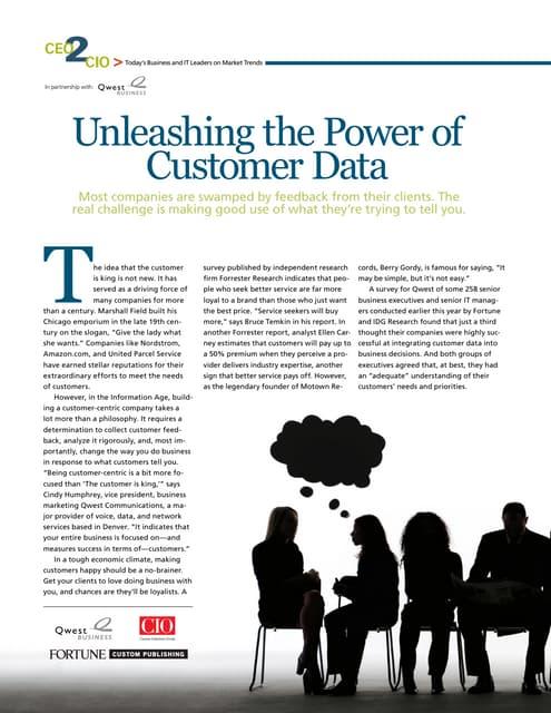 Unleashing the Power of Customer Data