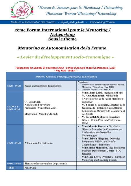 Forum international pour le mentoring  networking