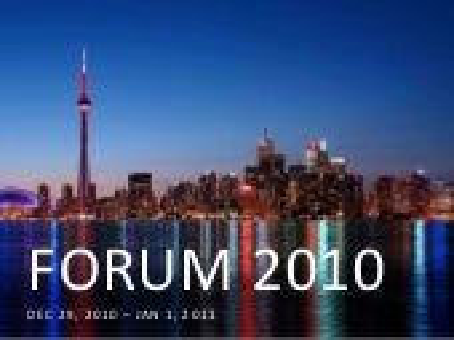 FORUM 2010 Tor