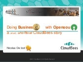 Doing Business with OpenSource - a short (unofficial) CloudBees story