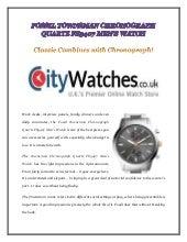 Fossil townsman chronograph quartz fs5407 mens watch