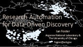 Research Automation for Data-Driven Discovery