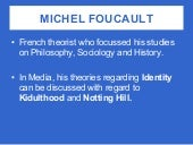 Foucault and Giddens