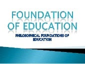 Foundation of education