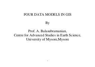 Four data models in GIS