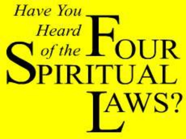 image about Four Spiritual Laws Printable named 4 non secular rules