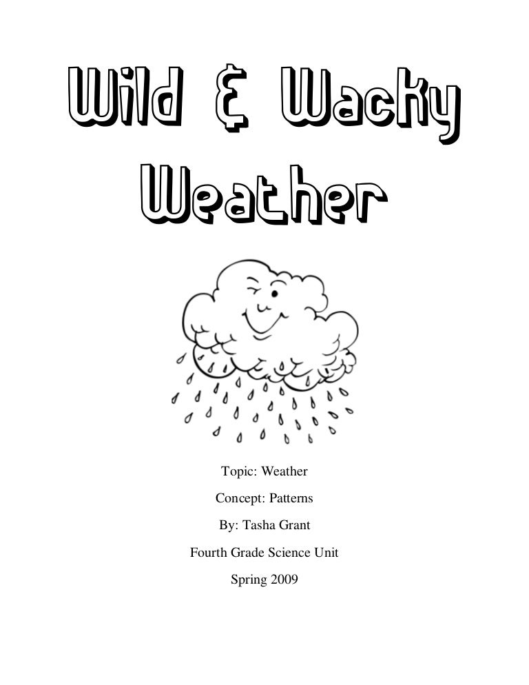Fourth Grade Worksample Weather Unit