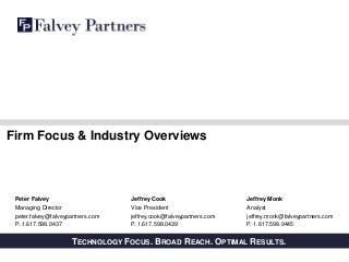 Falvey Partners Focus & Sector Overviews